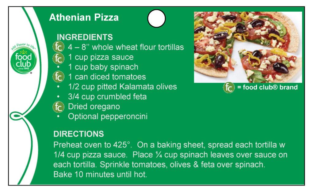 Athenian Pizza Recipe