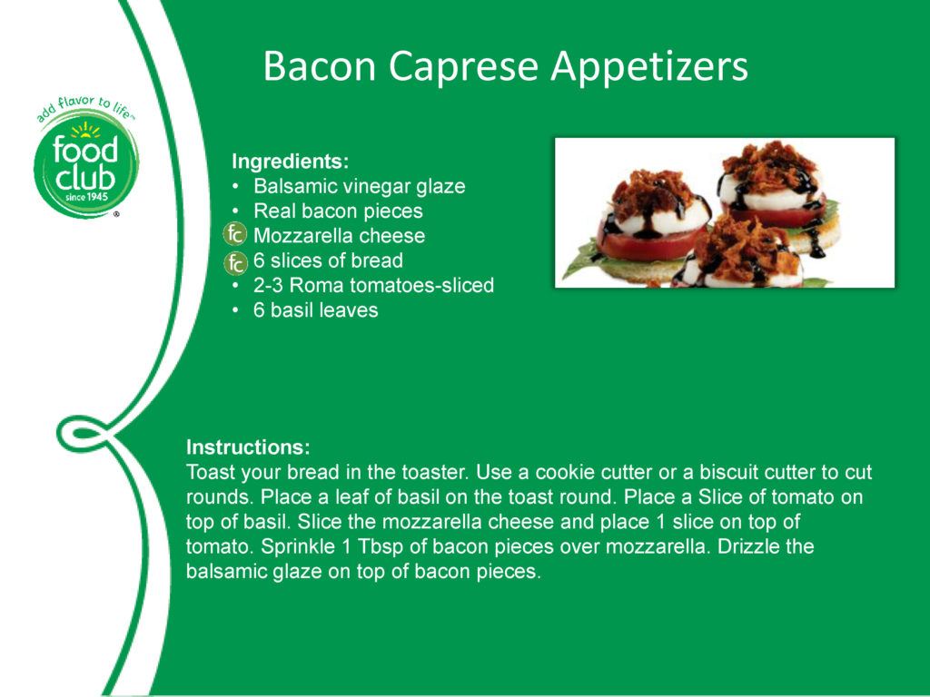 Bacon Caprese Appetizers Recipe