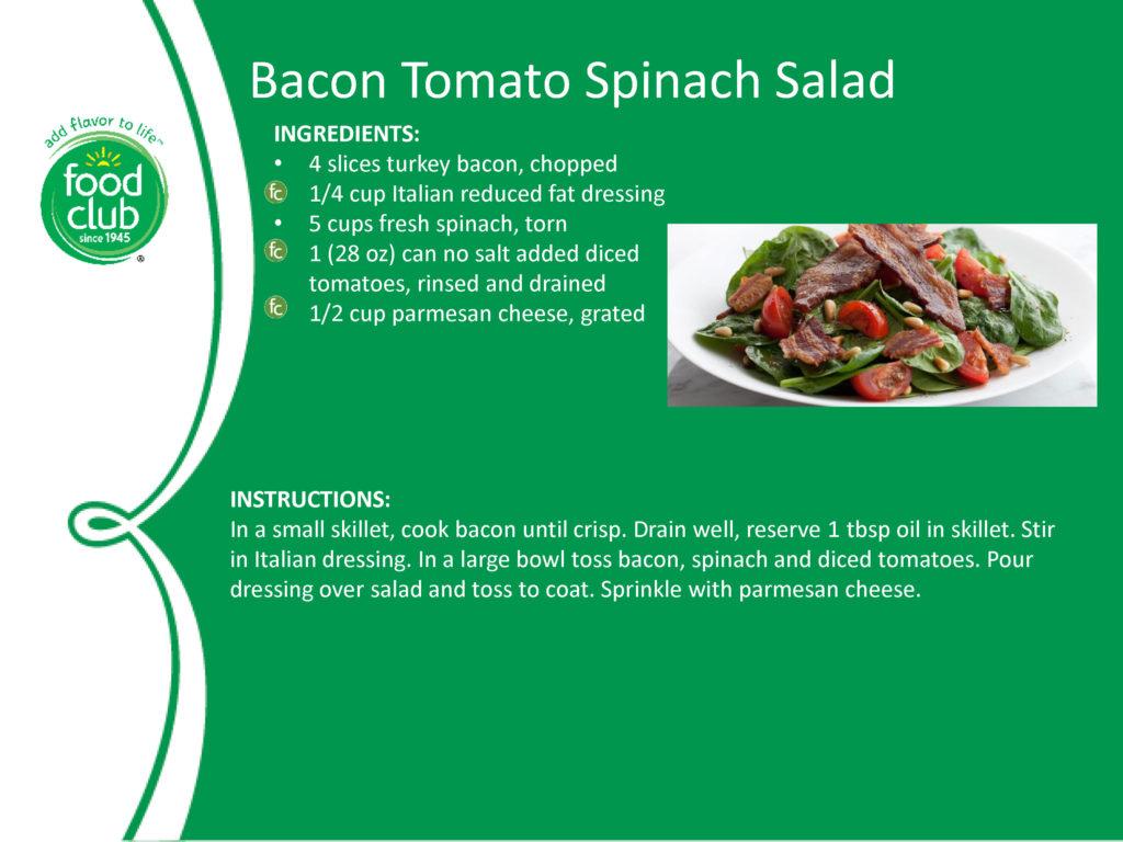 Bacon Tomato Spinach Salad Recipe