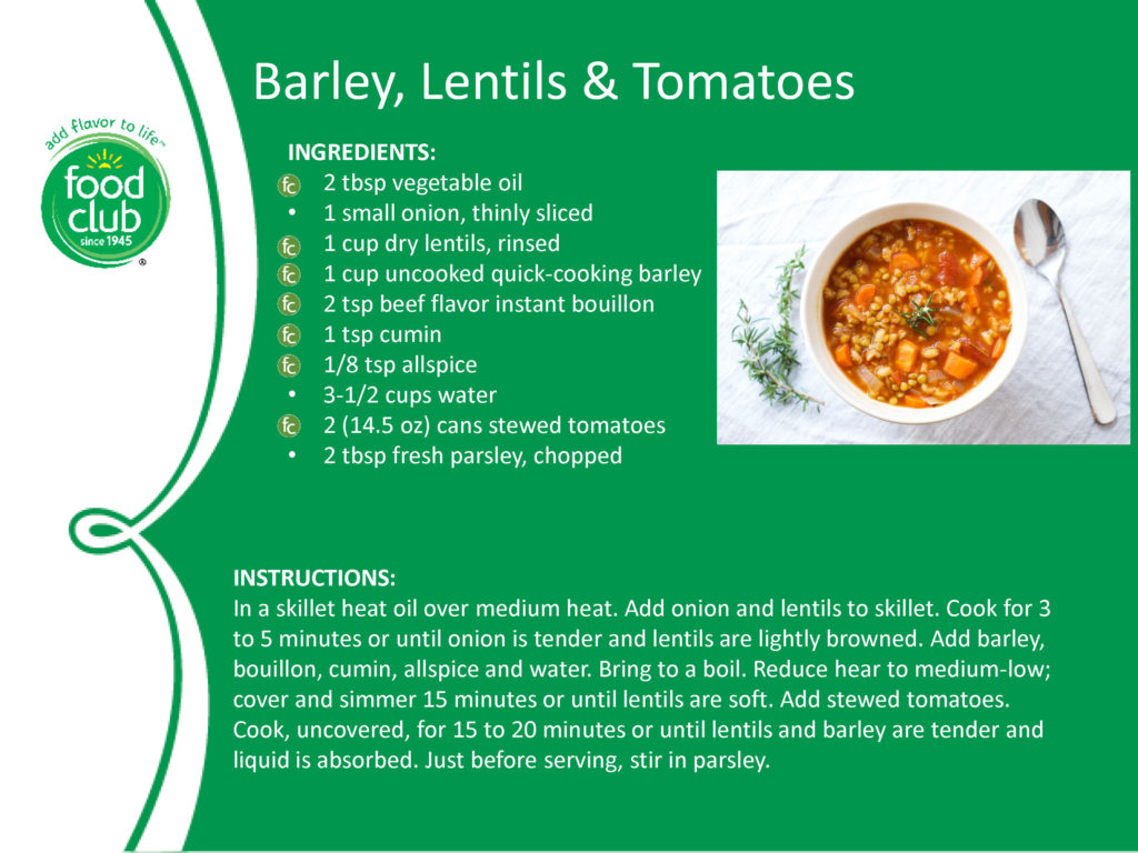 Barley Lentils And Tomatoes Recipe
