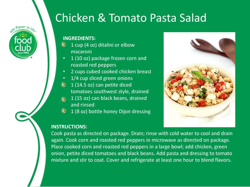 Chicken And Tomato Pasta Salad Recipe