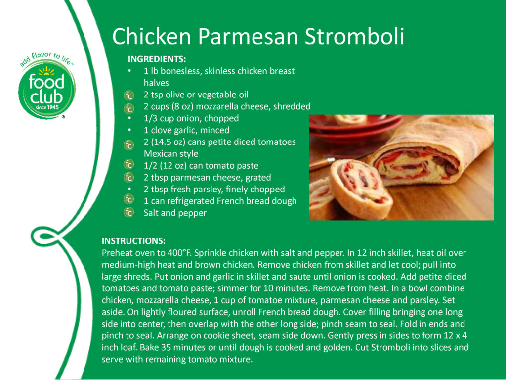 Chicken Parmesan Stromboli Recipe