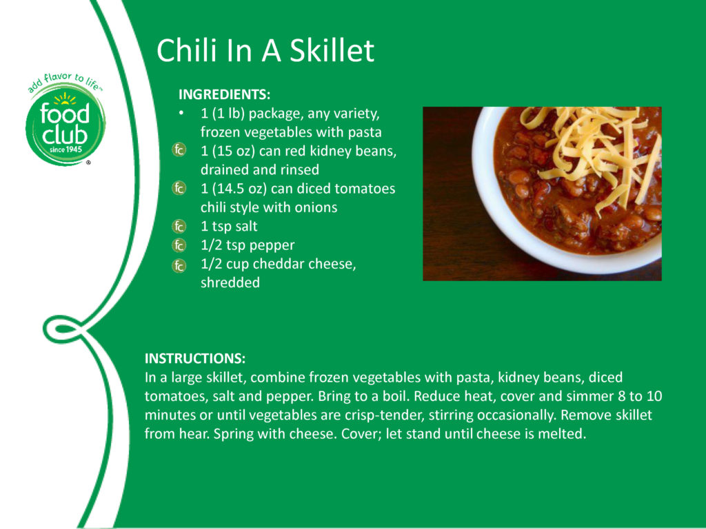 Chili In A Skillet Recipe