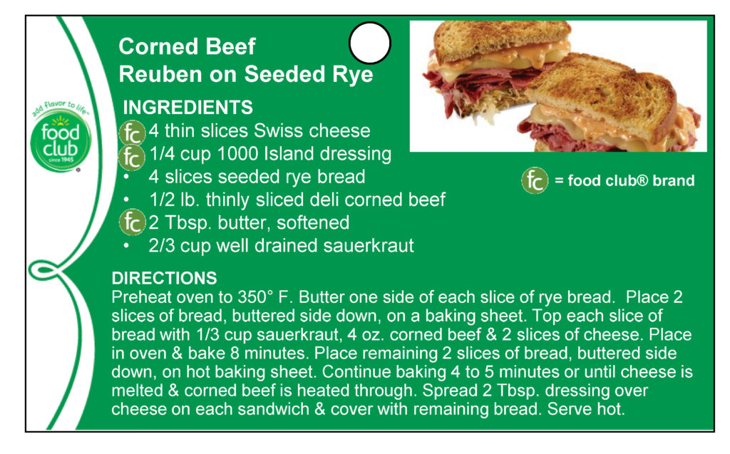 Corned Beef Reuben On Seeded Rye Recipe