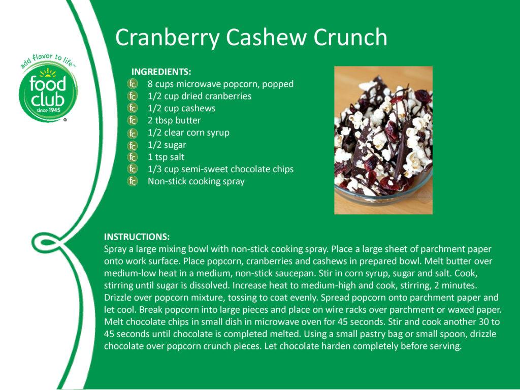 Cranberry Cashew Crunch Recipe