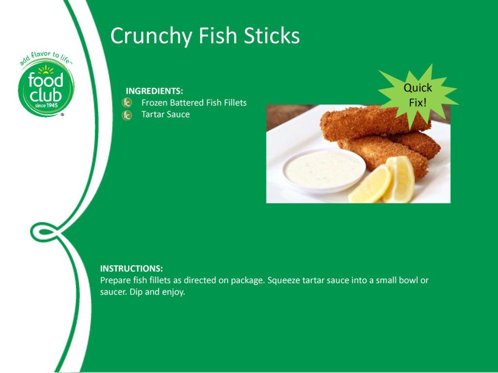 Crunchy Fish Sticks Recipe