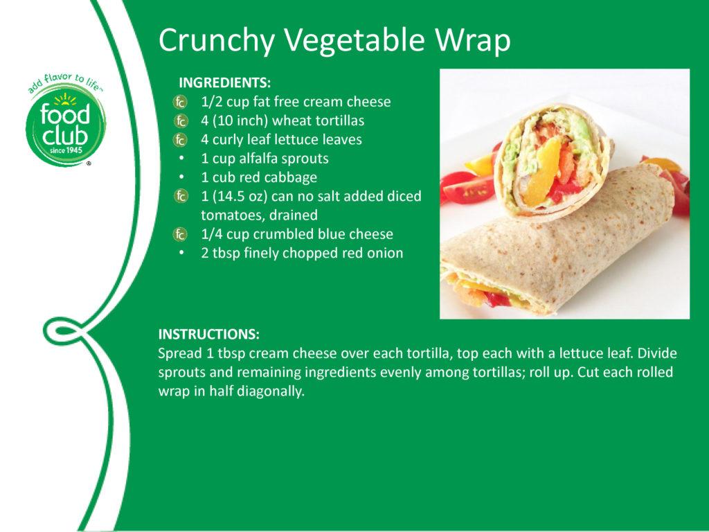 Crunchy Vegetable Wrap Recipe