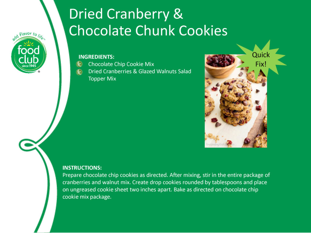 Dried Cranberry & Chocolate Chunk Cookies Recipe