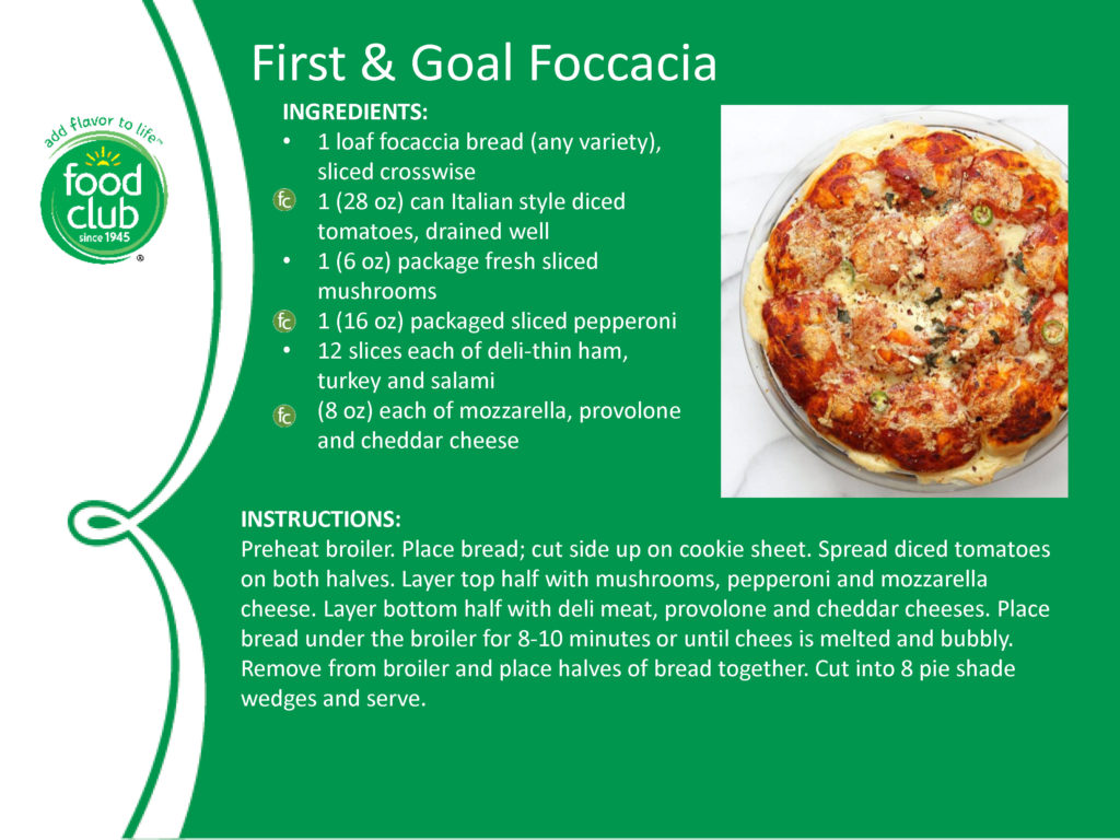 First And Goal Foccacia Recipe