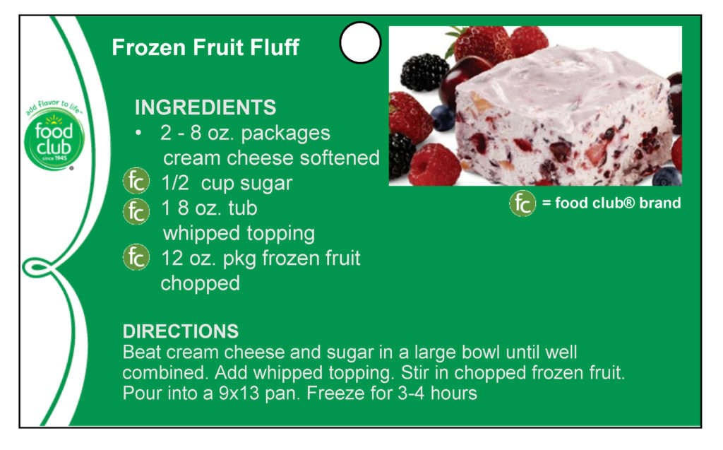Frozen Fruit Fluff Recipe
