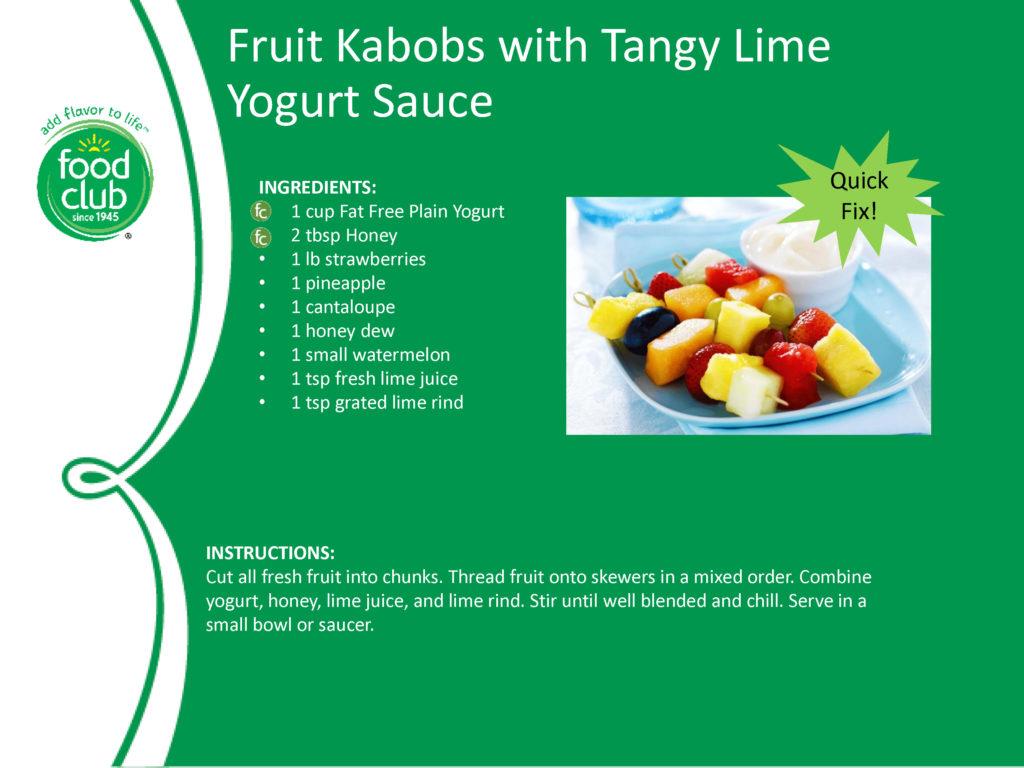 Fruit Kabob With Lime Sauce Recipe