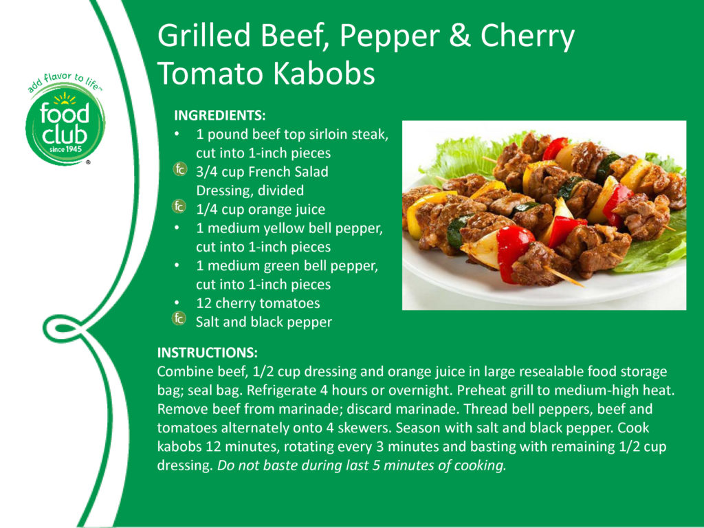 Grilled Beef Pepper And Cherry Tomato Kabobs Recipe