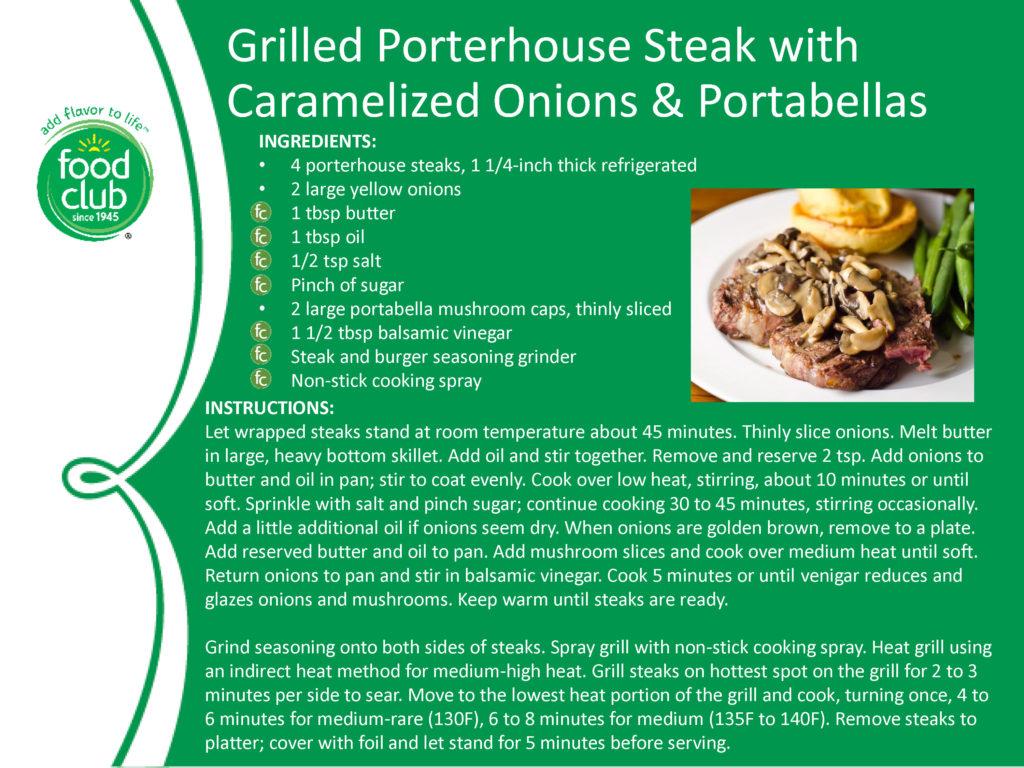 Griller Porterhouse Steak With Onions & Mushrooms Recipe