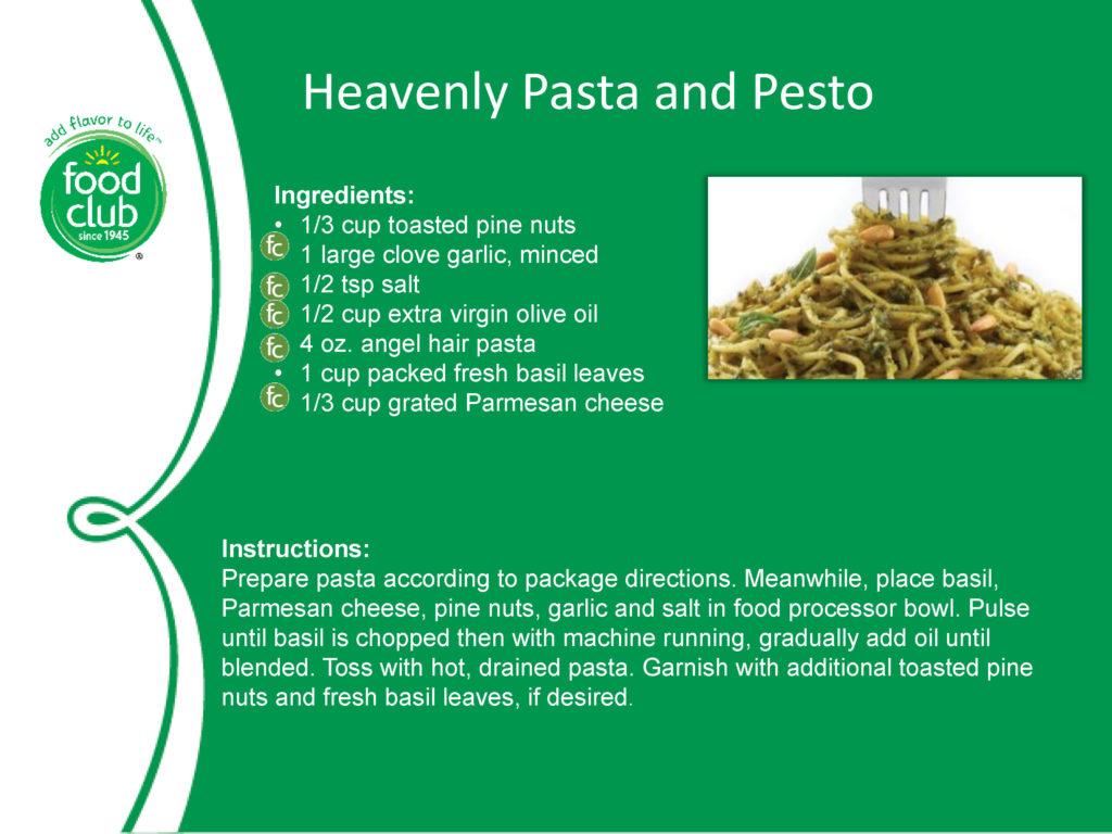Heavenly Pasta And Pesto Recipe