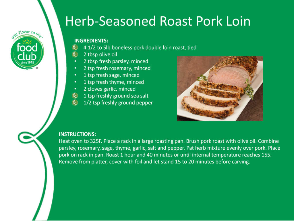 Herb-Seasoned Roast Pork Loin Recipe