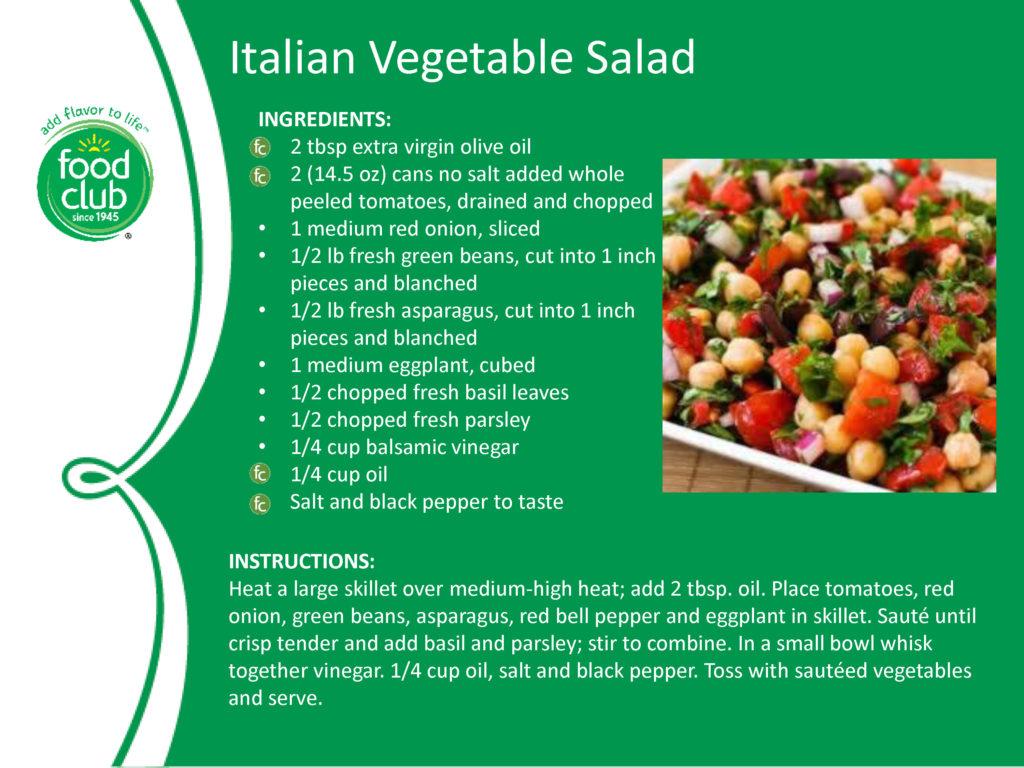 Italian Vegetable Salad Recipe