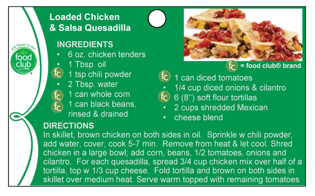 Loaded Chicken & Salsa Quesadilla Recipe