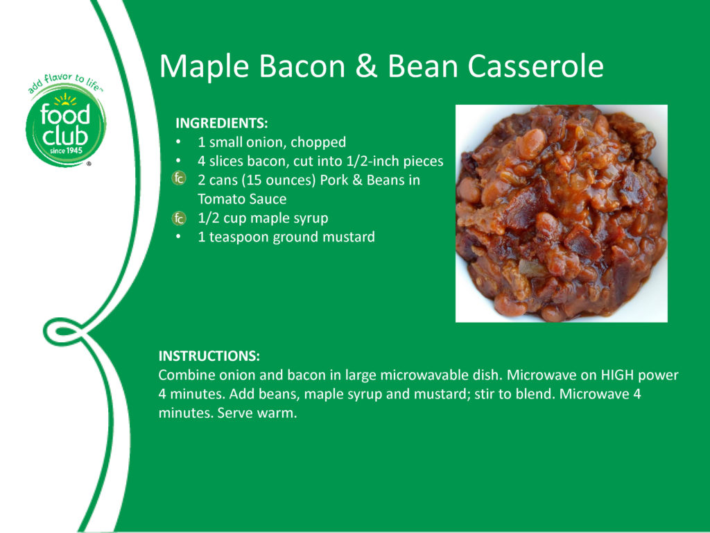 Maple Bacon And Bean Casserole Recipe