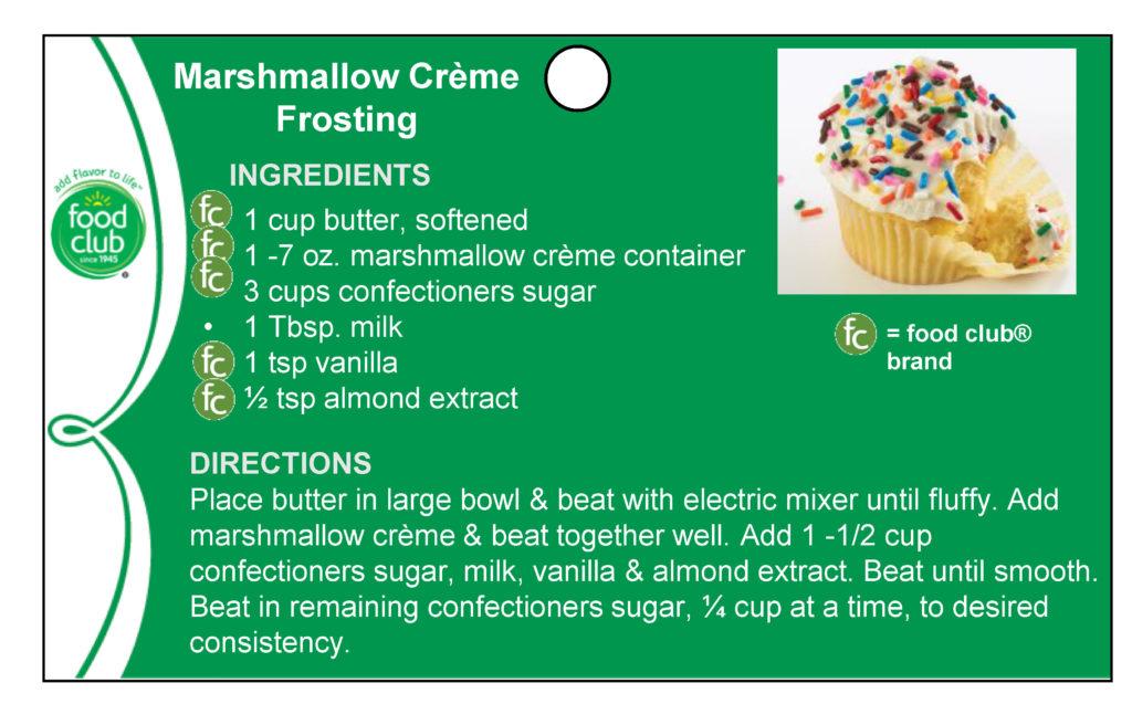 Marshmallow Creme Frosting Recipe