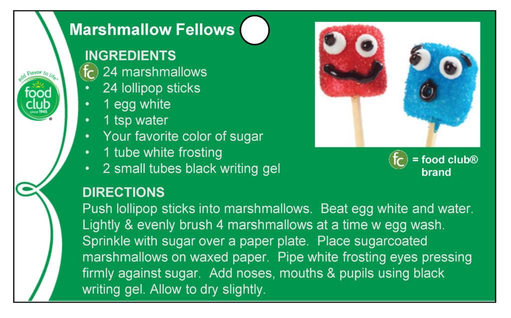 Marshmallow Fellows Recipe