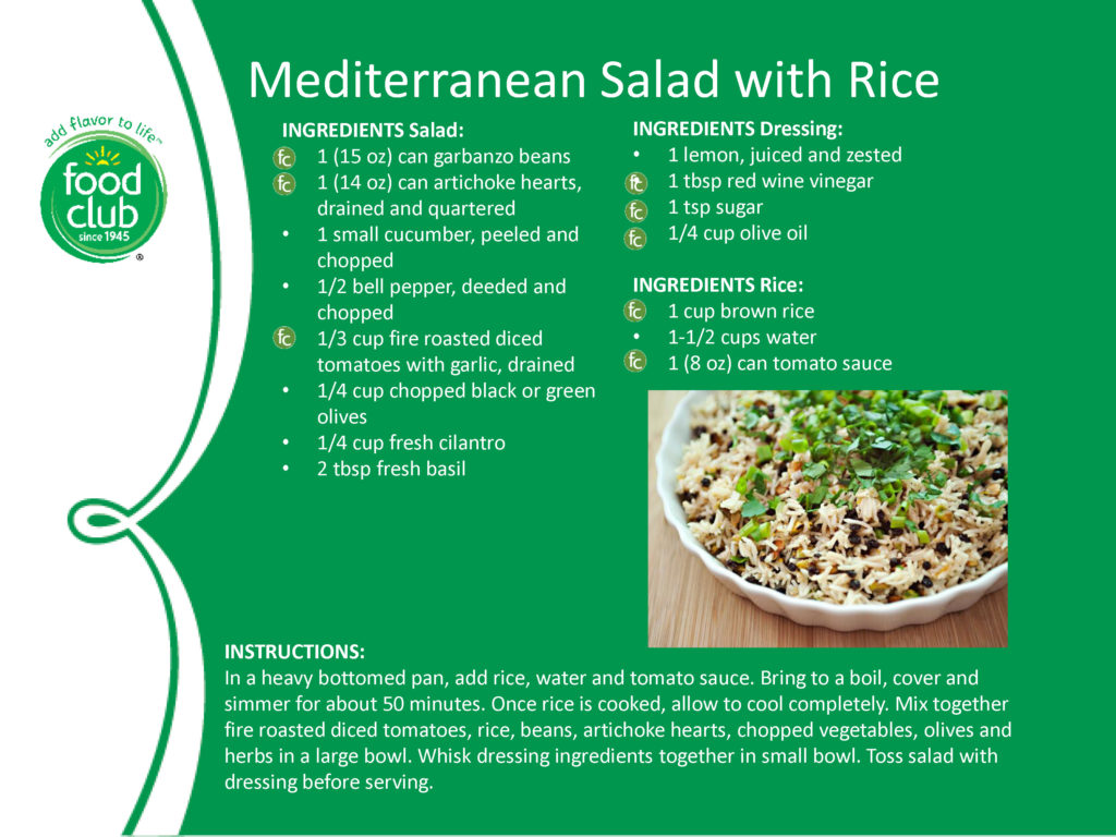 Mediterranean Salad With Rice Recipe