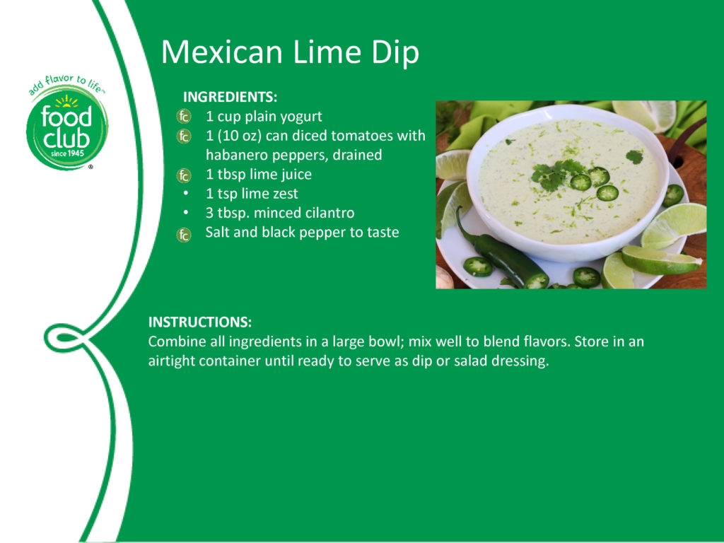 Mexican Lime Dip Recipe