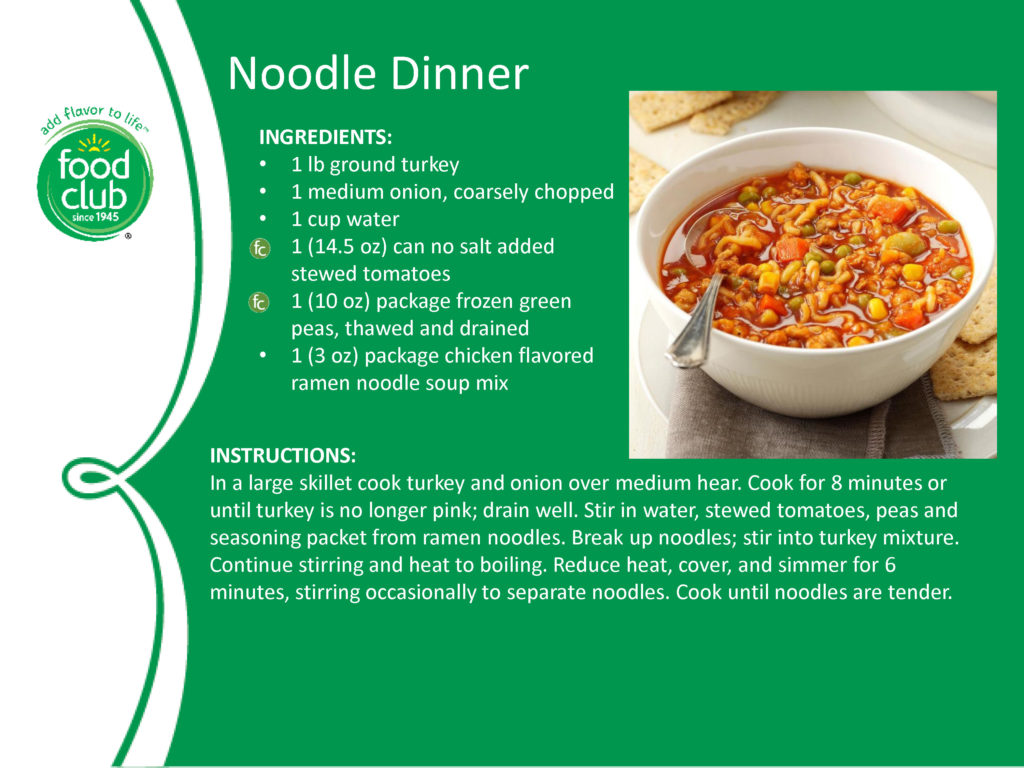 Noodle Dinner Recipe