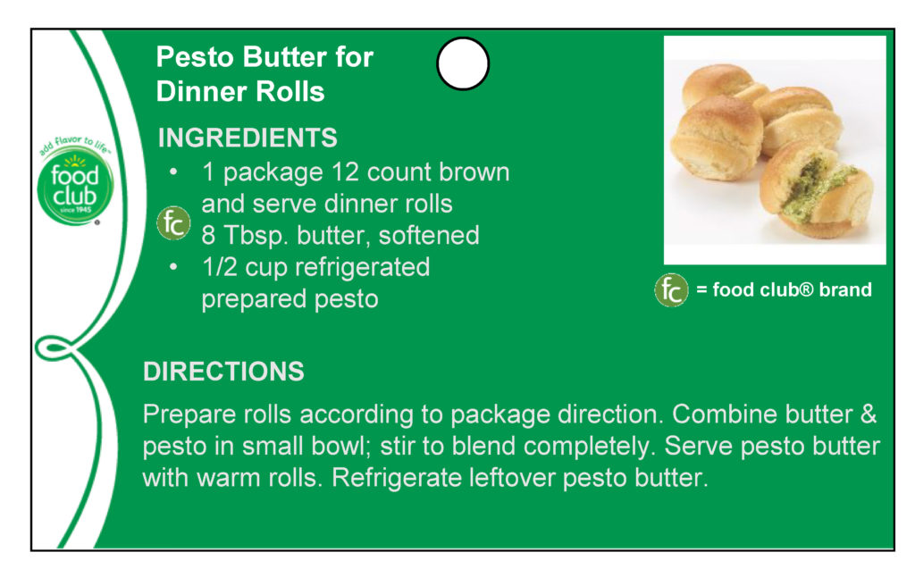 Pesto Butter For Dinner Rolls Recipe