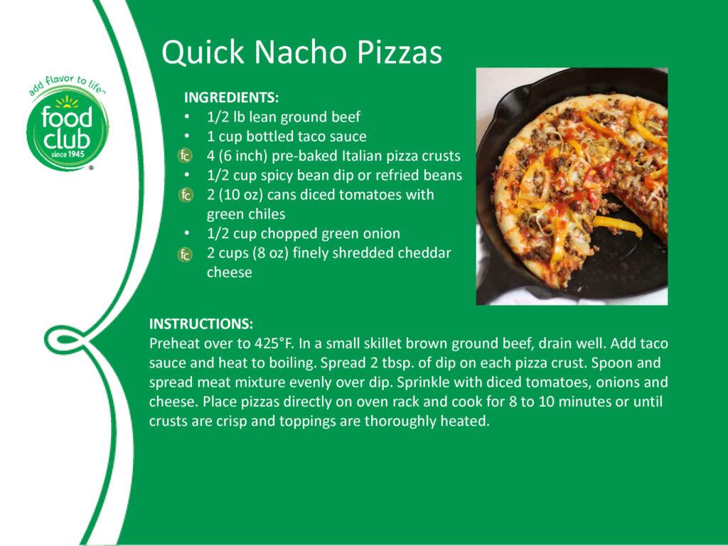 Quick Nacho Pizzas Recipe
