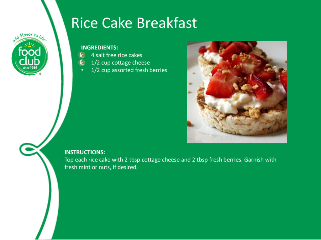 Rice Cake Breakfast Recipe