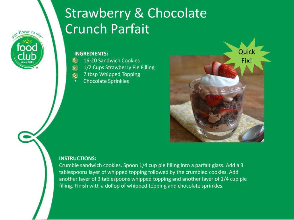 Strawberry Chocolate Crunch Parfait Recipe