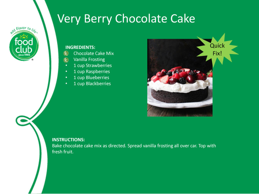 Very Berry Chocolate Cake Recipe
