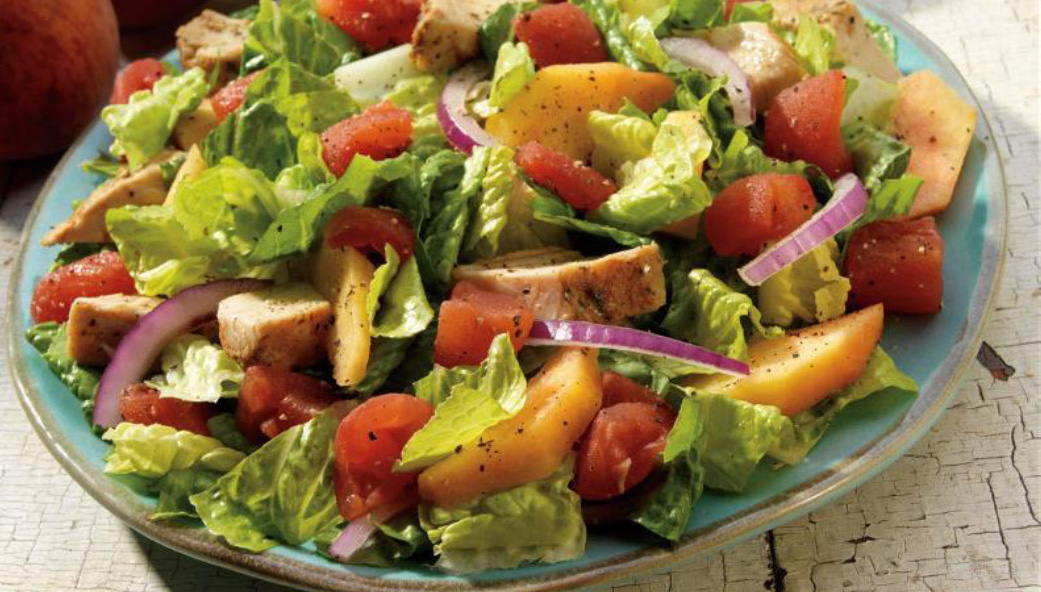 Chicken Salad With Peach Chipotle Dressing