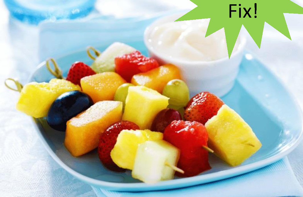 Fruit Kabob With Lime Sauce