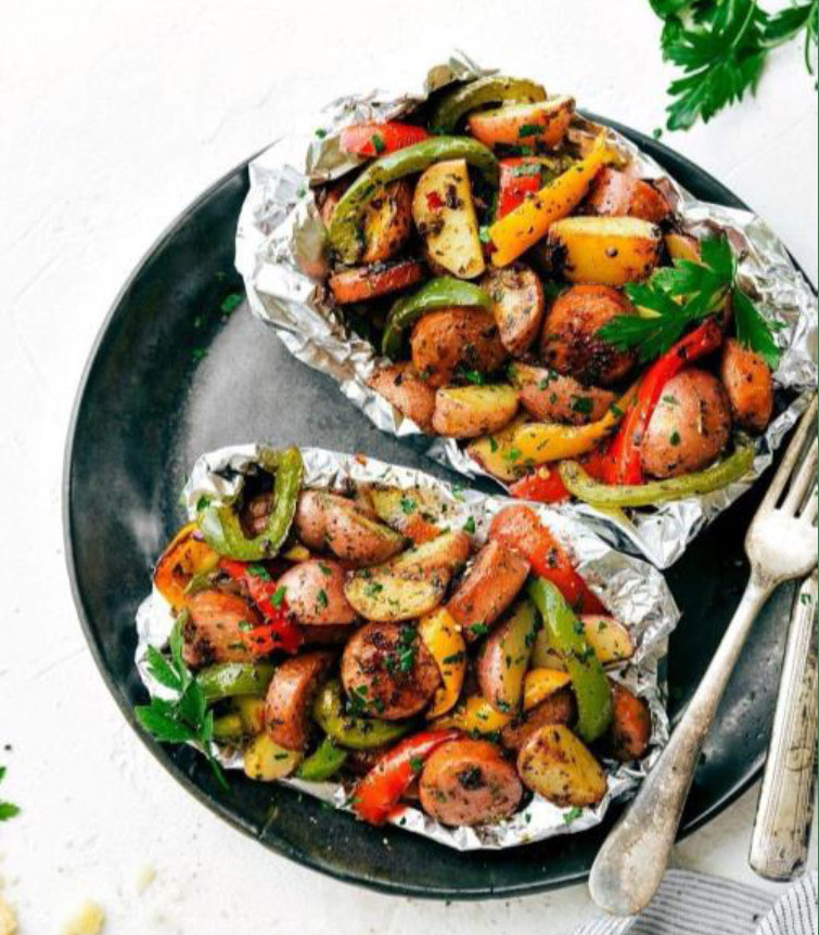 Grilled Italian Chicken And Vegetable Packets