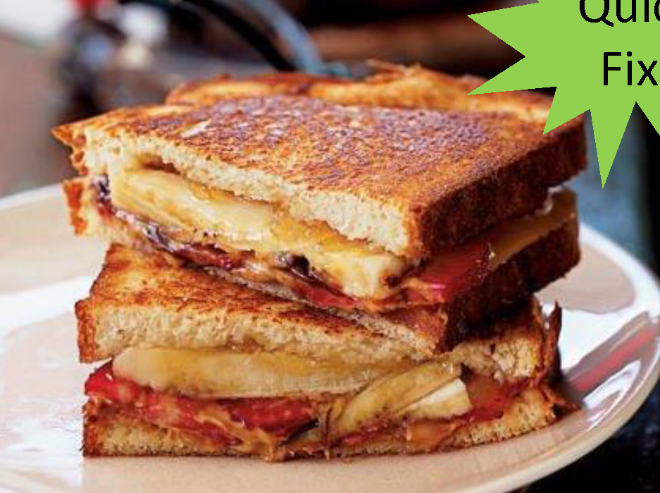 Grilled PBJ With Bananas
