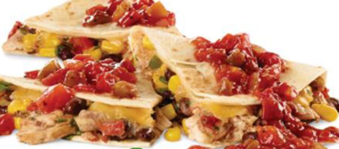 Loaded Chicken & Salsa Quesadilla