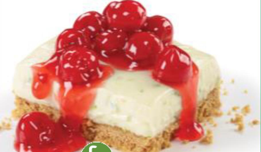 No Bake Cherry Lime Cheesecake