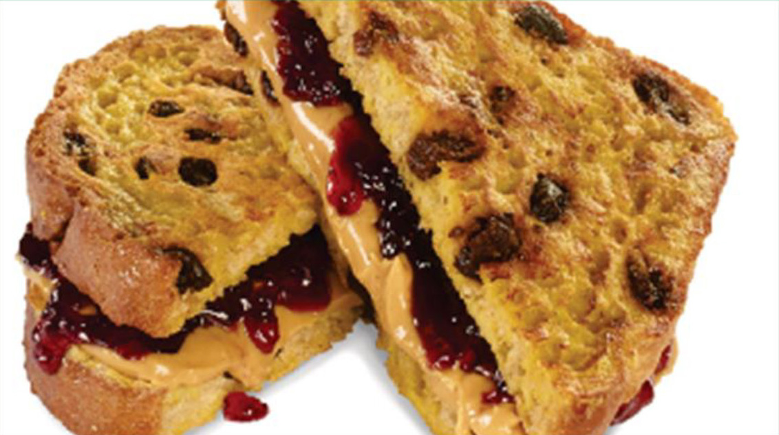 Peanut Butter And Jelly On Raisin French Toast