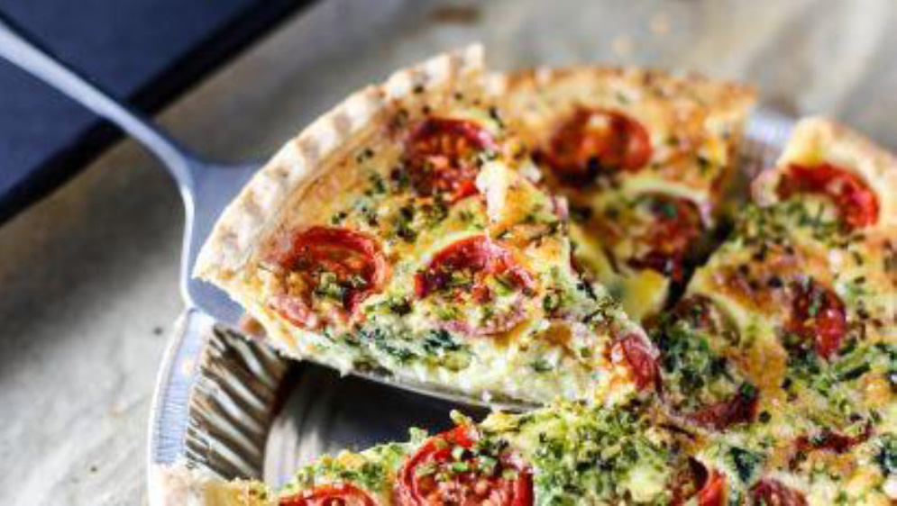 Spinach & Sun-Dried Tomato Quiche