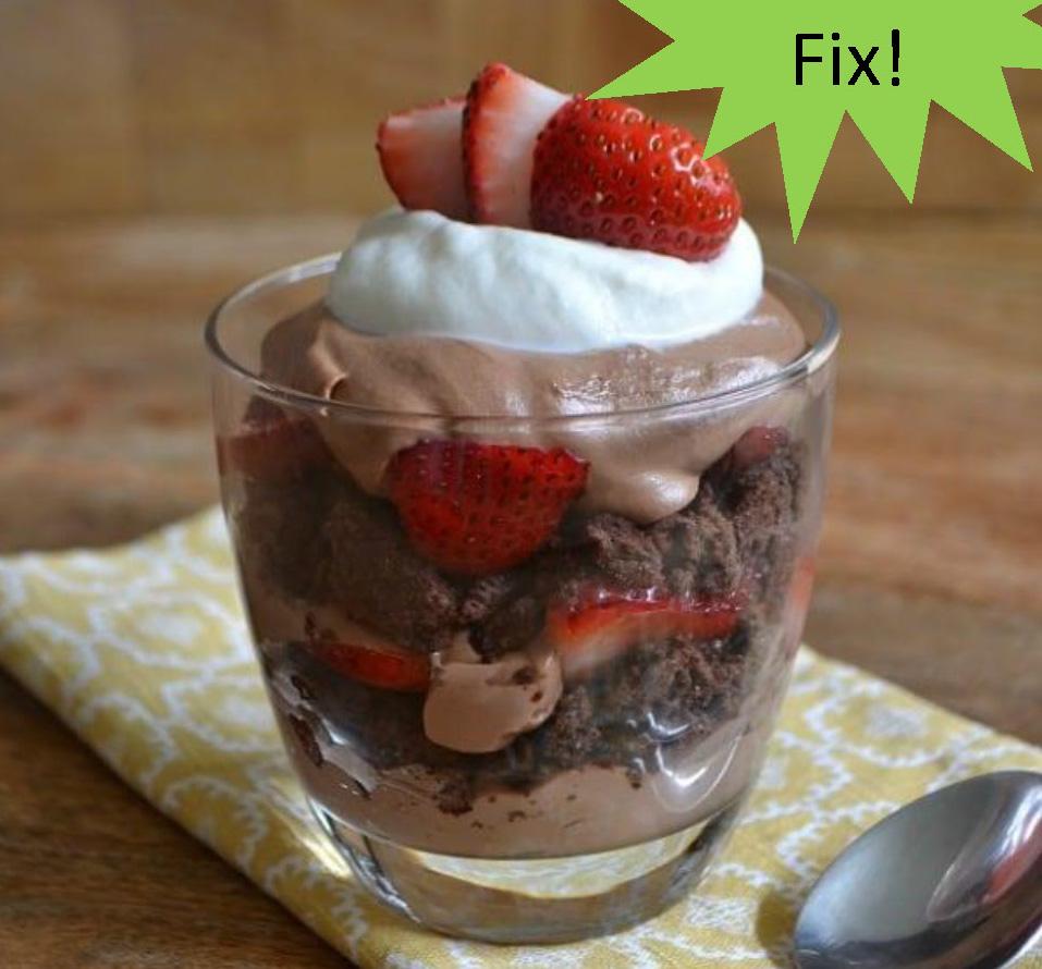 Strawberry Chocolate Crunch Parfait