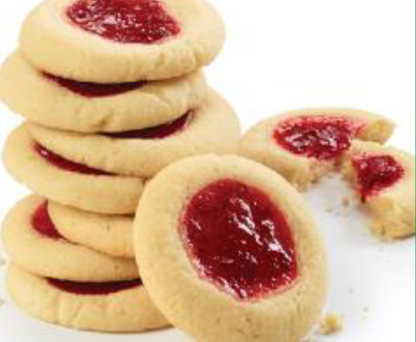 Strawberry Filled Thumbprint Cookies