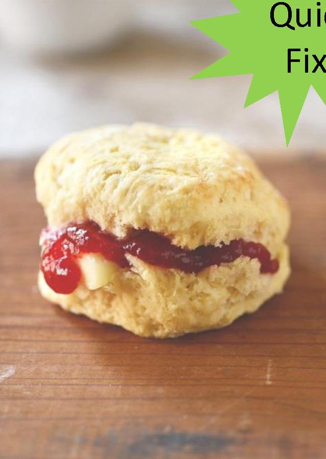 Texas Style Breakfast Biscuits & Black Raspberry Preserves